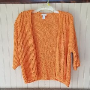 Chicos sweater orange size 2 large